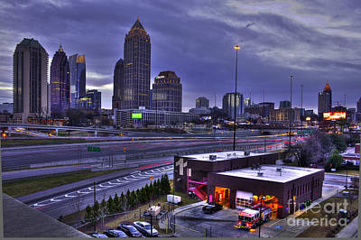 High School Of Art And Design Photograph - Midtown Atlanta Fire Proof Ready by Reid Callaway