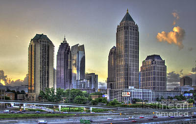 Photograph - Midtown Atlanta Sunrise by Reid Callaway