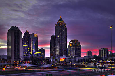 High School Of Art And Design Photograph - Midtown Atlanta Winter Sunrise by Reid Callaway