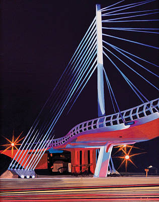 Painting - Midtown Greenway Sabo Bridge by Jude Labuszewski