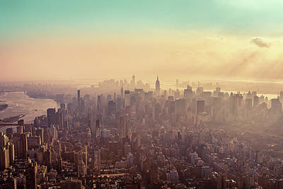 Cityscapes Photograph - Midtown Manhattan At Dusk by Matthias Haker Photography