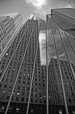 Midtown Reflections Art Print by Mike Martin