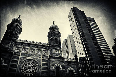 Midtown Synagogue New York City Art Print by Sabine Jacobs