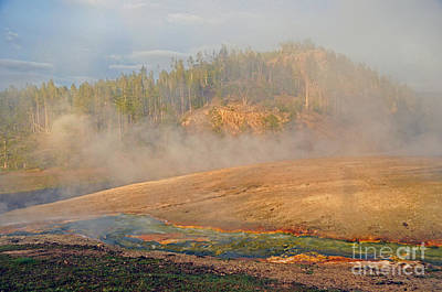 Photograph - Midway Geyser Basin by Cindy Murphy - NightVisions