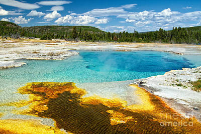 Photograph - Midway Geyser Basin by Stuart Gordon