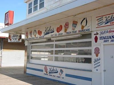 Kohr Photograph - Midway Ice Cream by Kathy Dahmen