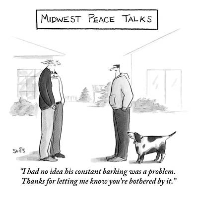 Midwest Drawing - Midwest Peace Talks by Julia Suits