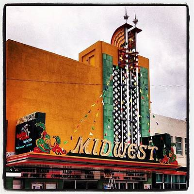 Science Fiction Photograph - Midwest Theater  Scottsbluff Ne by M Hunter