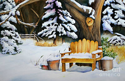 Painting - Midwest Winter by Glenyse Henschel