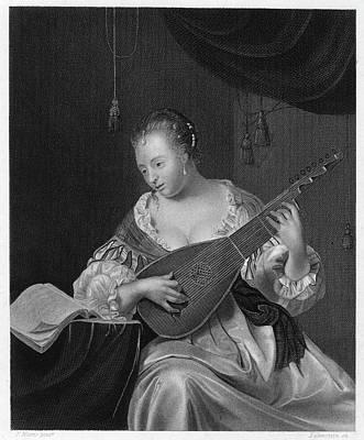 Mieris Lady Singing Art Print by Granger