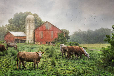 Rural Scenes Digital Art - Mifflintown Farm by Lori Deiter