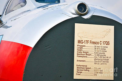 Photograph - Mig-17 Description by John Waclo