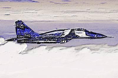 Combat Photograph - Mig-29 by VRL Art