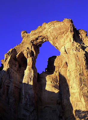 Arches National Monument Photograph - Mighty Grosvenor Arch In Grand by Jerry Ginsberg