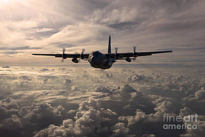 Air Force Digital Art - Mighty Hercules by J Biggadike