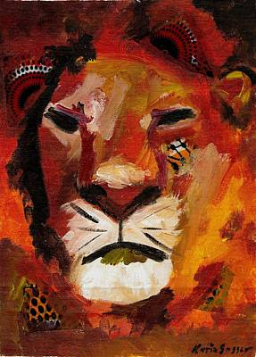 Painting - Mighty Lion by Katie Sasser