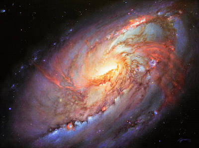 Cosmos Painting - Mighty M106 by Lucy West