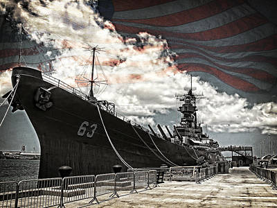 Photograph - Mighty Mo U.s.s. Missouri by Ken Smith