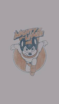 Cartoon Characters Digital Art - Mighty Mouse - Flying With Purpose by Brand A