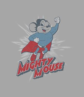 Halloween Digital Art - Mighty Mouse - Mighty Blast Off by Brand A