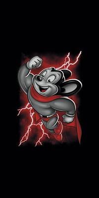 Cartoon Characters Digital Art - Mighty Mouse - Mighty Storm by Brand A