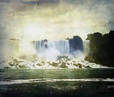 Rock The World Digital Art - Mighty Niagara by Lianne Schneider