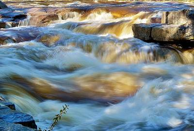 Blue Hues - Mighty Swift River by Anne Clark