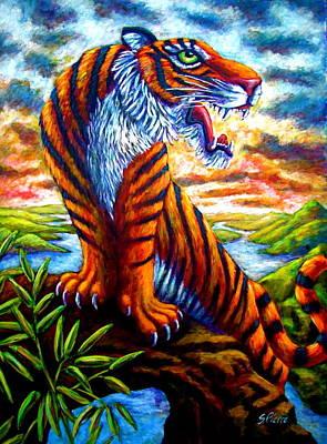 Mighty Tigress Art Print