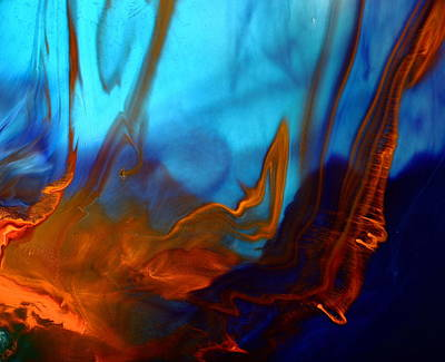 Photograph - Migration - Contemporary Fluid Abstract Art By Kredart by Serg Wiaderny