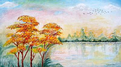 Painting - Migration by Hemu Aggarwal
