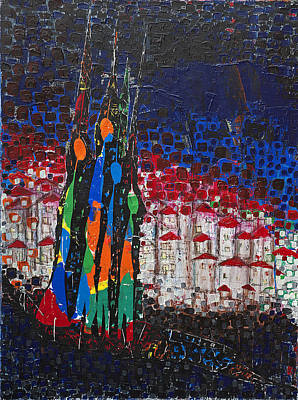 Kosovo Painting - Migrations - Return by Thomas Lamic