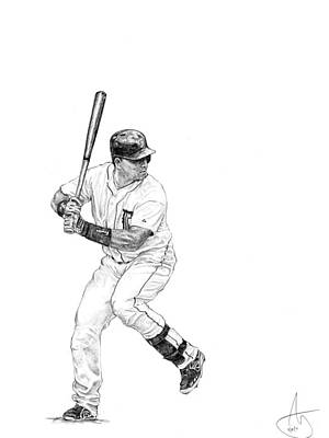 Detroit Tigers Drawing - Miguel Cabrera by Joshua Sooter