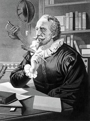 Novelist Painting - Miguel De Cervantes Saavedra (1547-1616) by Granger