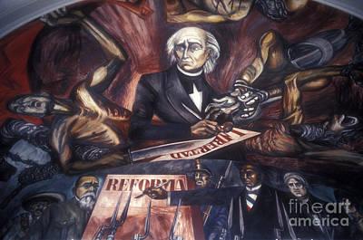 Photograph - Miguel Hidalgo Mural Guadalajara by John  Mitchell