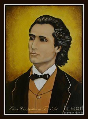 Painting - Mihai Eminescu  by Elena  Constantinescu