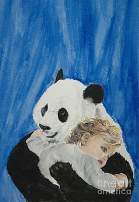 Mika And Panda Art Print by Tamir Barkan