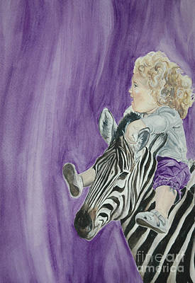 Painting - Mika And Zebra by Tamir Barkan