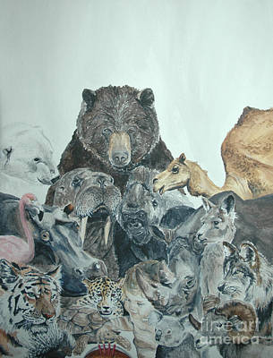 Painting - Mika Animals by Tamir Barkan