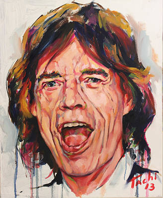 Famous People Painting - Mike - 1 by Tachi Pintor