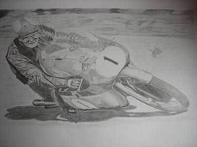 Mike Hailwood Art Print by Jose Mendez