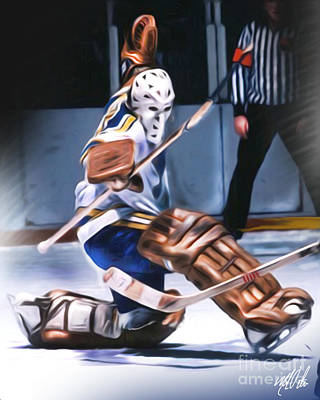 Classic Hockey Painting - Mike Luit by Mike Oulton