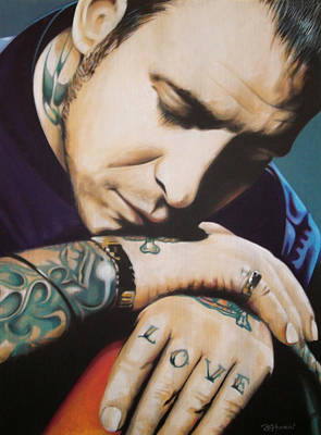 Singer Painting - Mike Ness by Bruce McLachlan