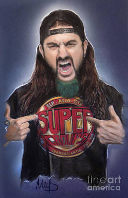 Mike Portnoy Art Print by Melanie D