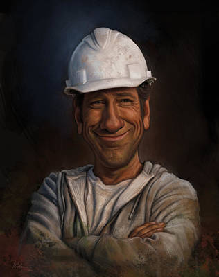 Job Done Painting - Mike Rowe by Derek Wehrwein
