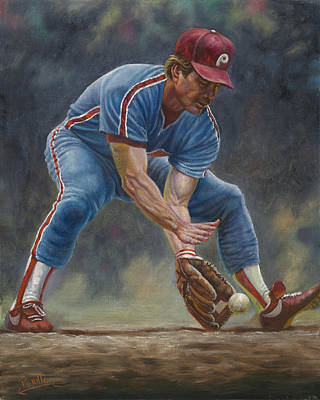Shortstop Painting - Mike Schmidt by Gregory Perillo