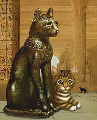 Mike The British Museum Kitten Art Print by Frances Broomfield
