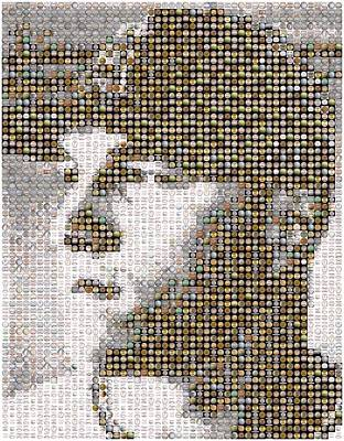 Mike Trout Mosaic Print by Paul Van Scott