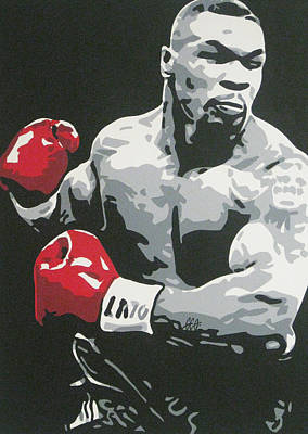 Painting - Mike Tyson 2 by Geo Thomson