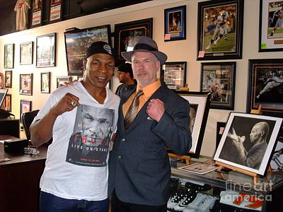 Photograph - Mike Tyson And Myself  At Mancave Memorabilia  by Jim Fitzpatrick