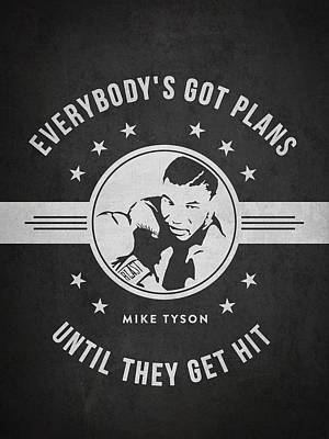 Mike Tyson - Dark Art Print by Aged Pixel